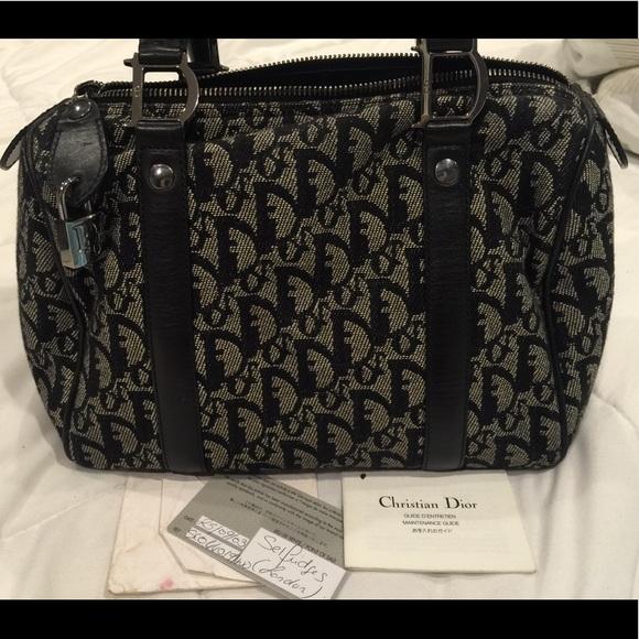 4db2326561e1 Dior Handbags - Authentic Christian Dior Boston Trotter Black bag